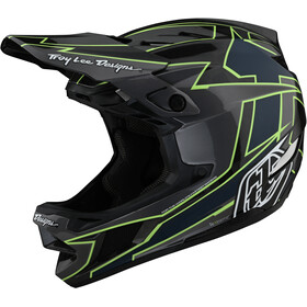 Troy Lee Designs D4 Carbon Helmet, graph grey/green